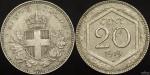 1919R 20c on 1894KB 20c