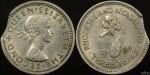 Rhodesia and Nyasaland 1964 Threepence - Clipped Planchet Error