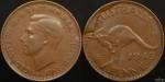 1943y Penny Large Reverse Cud Variety