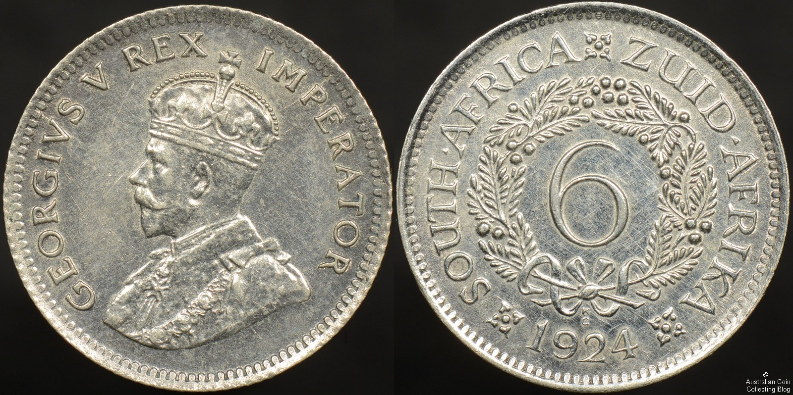 South Africa 1926 Sixpence