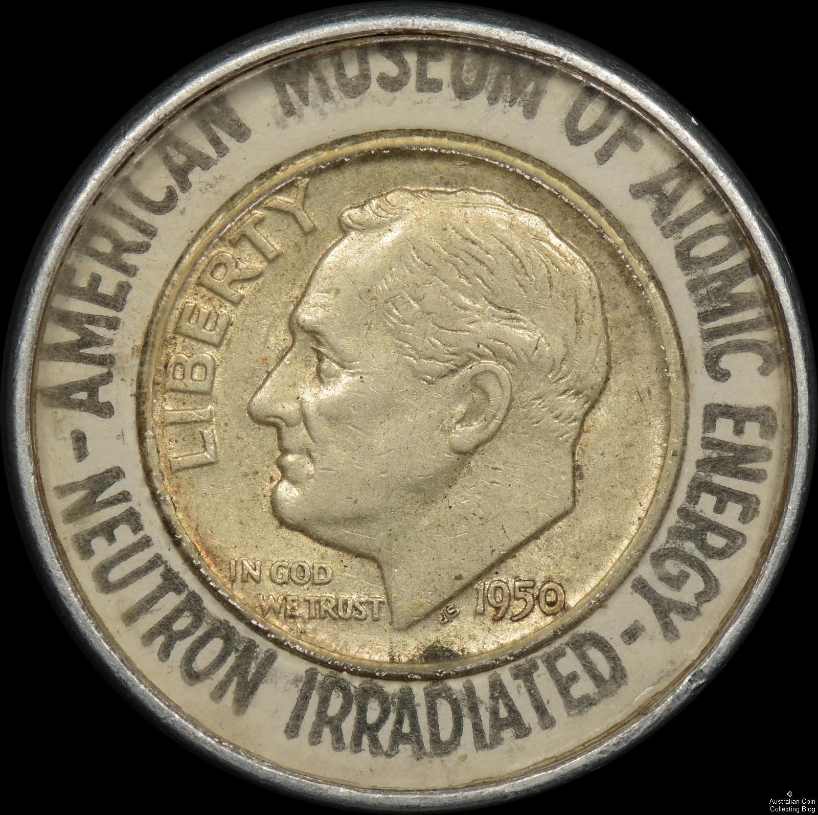 Irradiated Encased Dime - American Museum of Atomic Energy