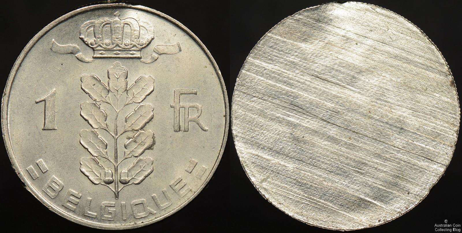 Belgium 1950-1988 Franc Split Planchet Error