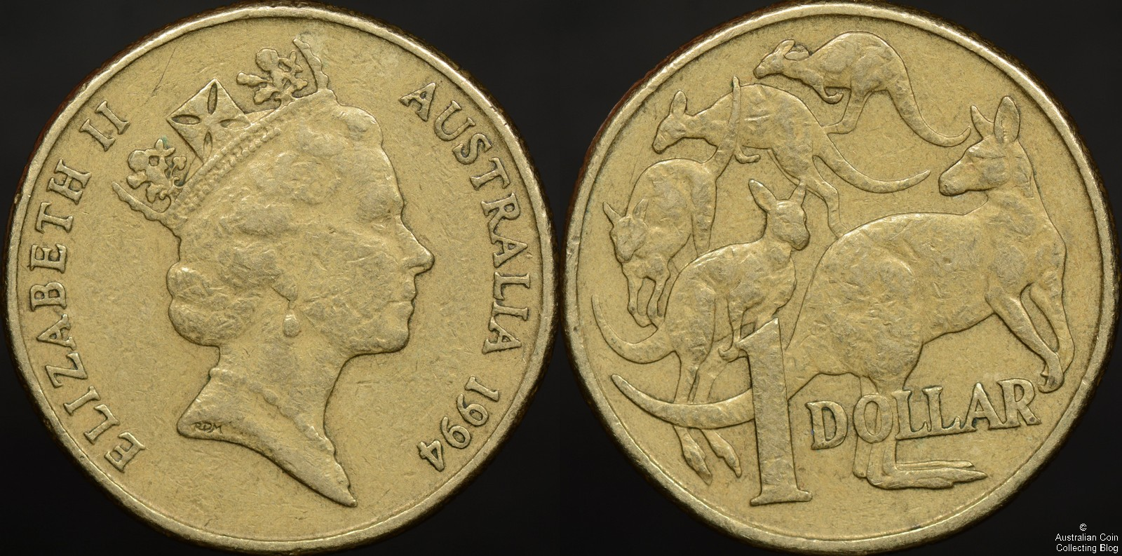 Australia 1994 Mob of Roos Dollar Rabbit Ear Variety
