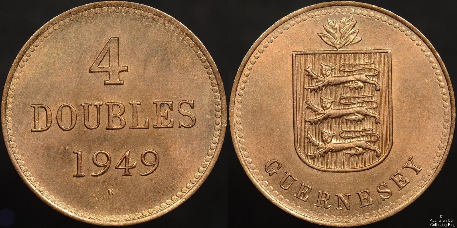 Guernsey 1949 -H 4 Doubles Gem Unc