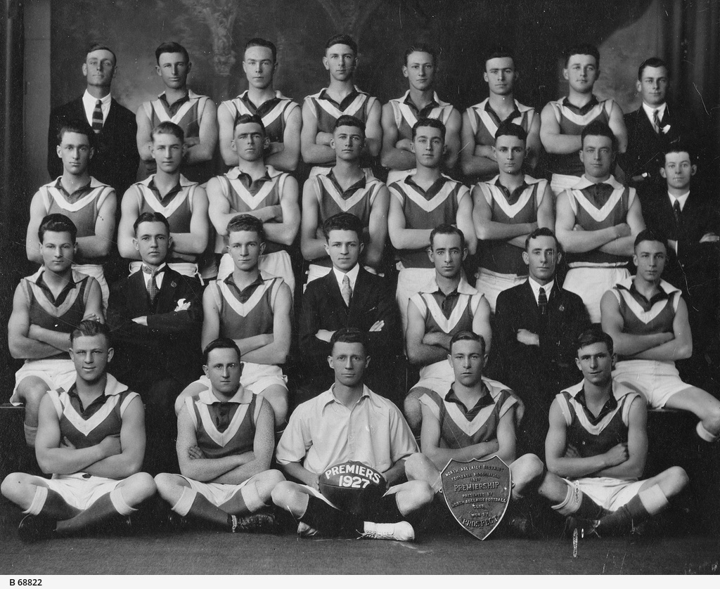Selmar Melvin, Front Left circa 1927 (Image Courtesy State Library of South Australia)