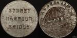 Counterstamped Sydney Harbour Bridge Rivet Medal c.1932 Carlisle ZS/2
