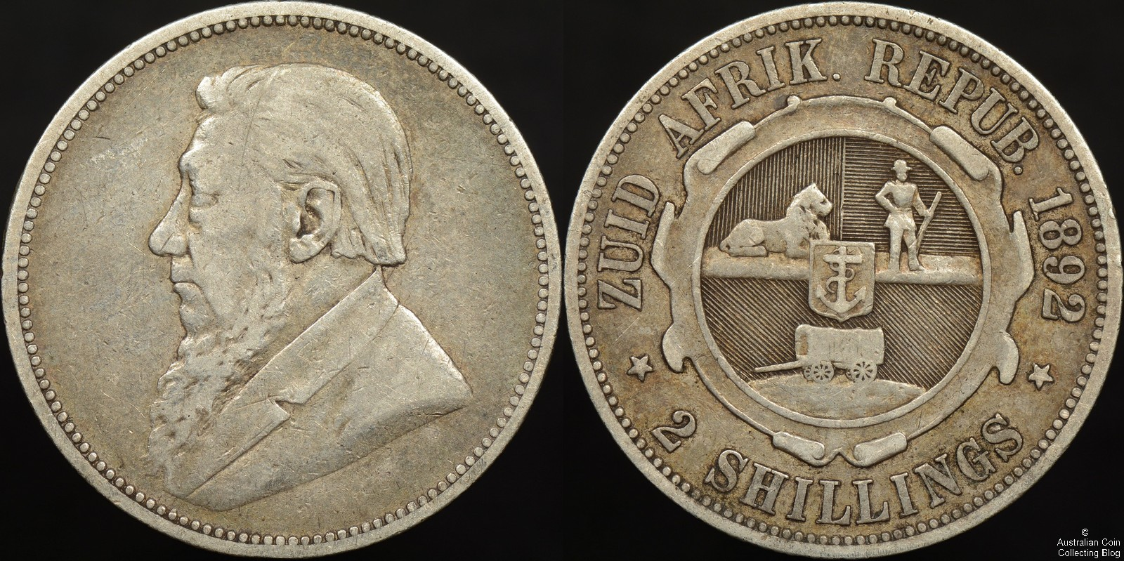 South Africa 1892 2 Shilling KM#6