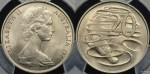 1966 20 cent wavy 2 variety PCGS MS64