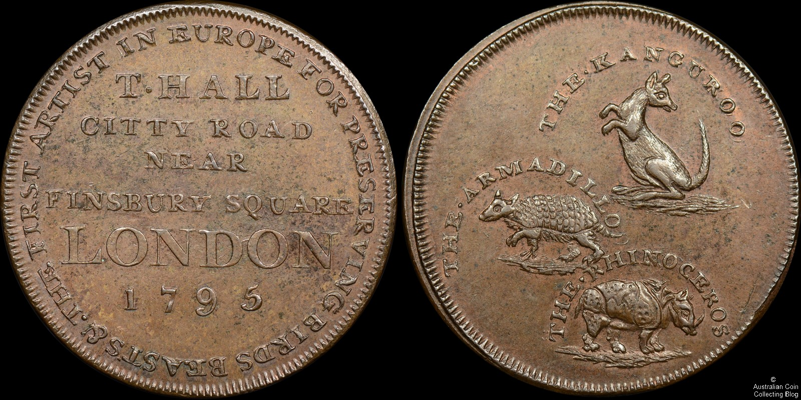 1795 Middlesex Penny T.Hall Zoo Token D&H 25 PCGS MS63BN