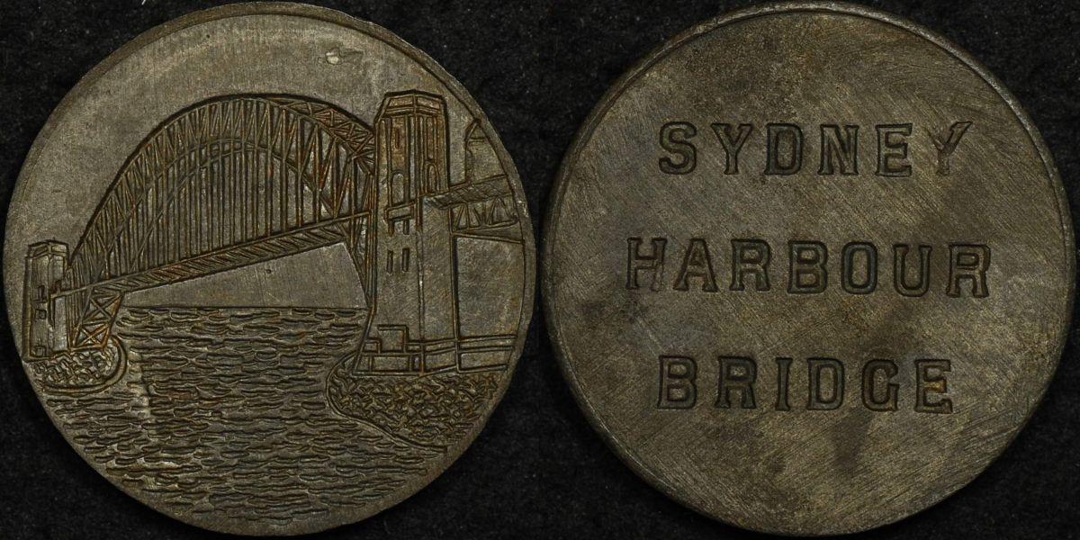 Sydney Harbour Bridge Rivet Medal c.1932 Carlisle ZS/2