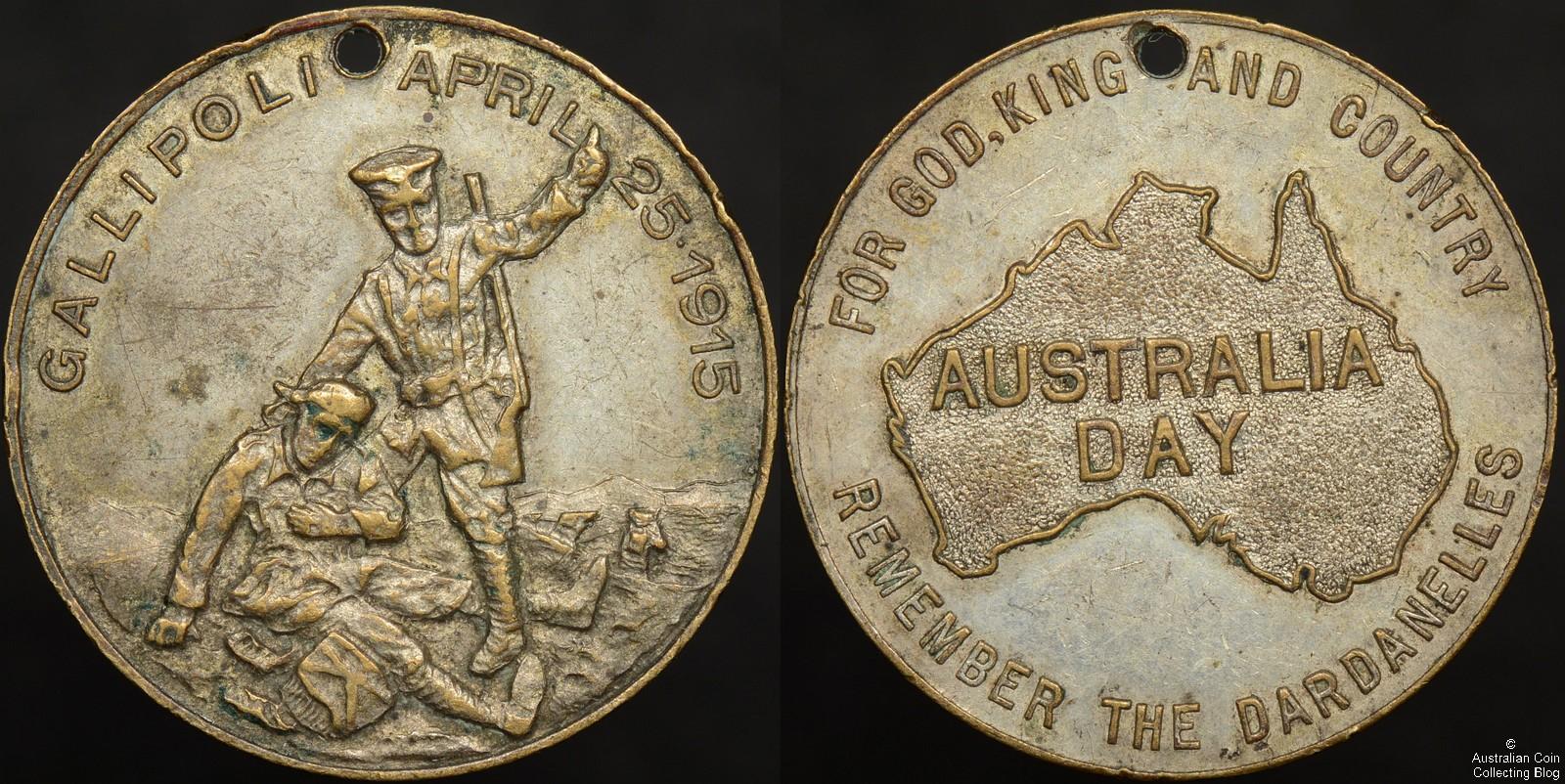 Australia 1915 Remember the Dardanelles Medallion