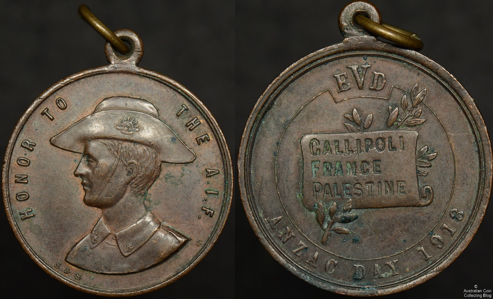 Honor to the AIF 1918 Bronze Medallion