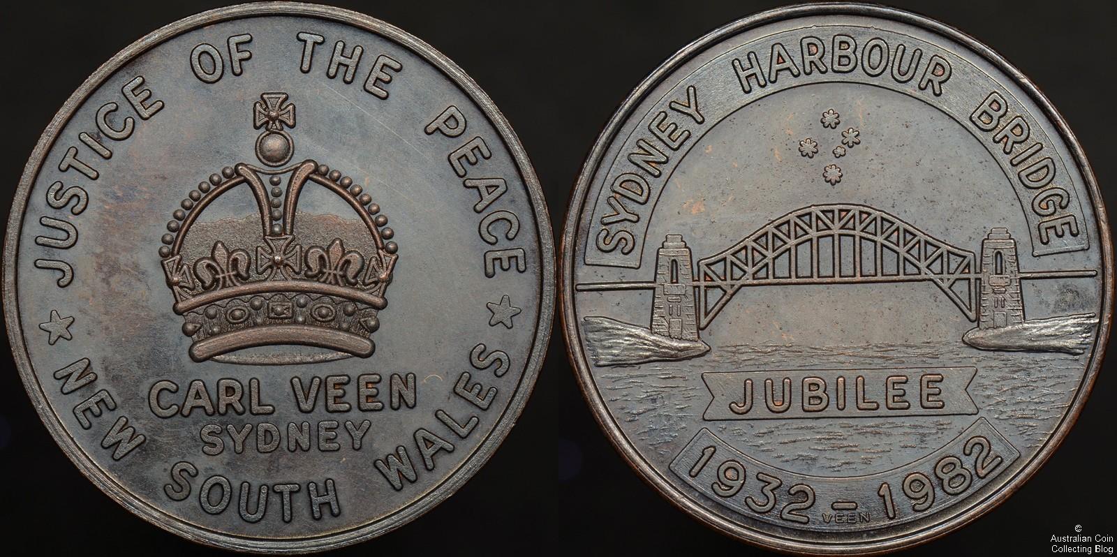 Sydney Harbour Bridge 1932-1982 Jubilee Carl Veen Medal 1982/32