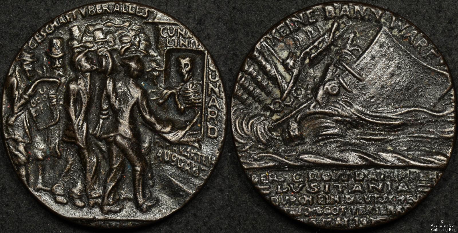 British Propaganda Lusitania Medal