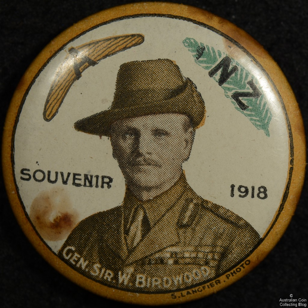 A NZ Souvenir 1918 Birdwood Tin badge