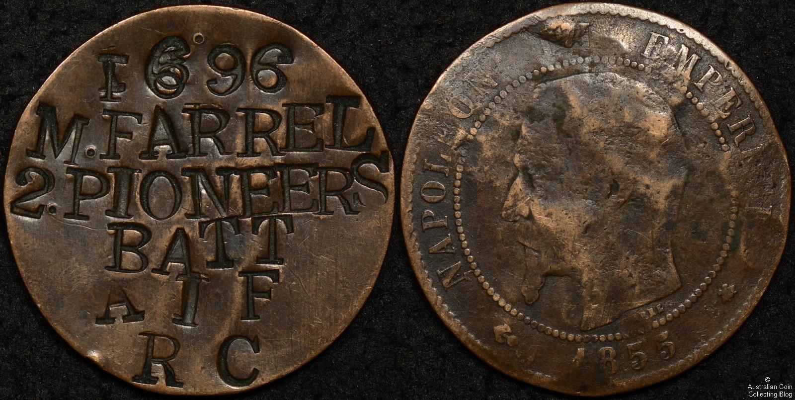 Australian World War 1 Identity Disk – M. Farrel 1696