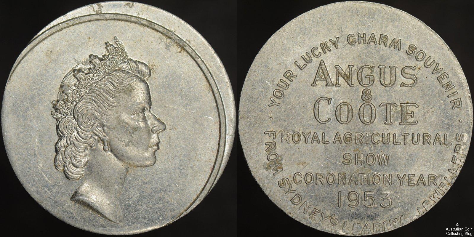 Australia 1953 Angus and Coote Sydney Agricultural Show Souvenir – 3 mm Off Centre Error