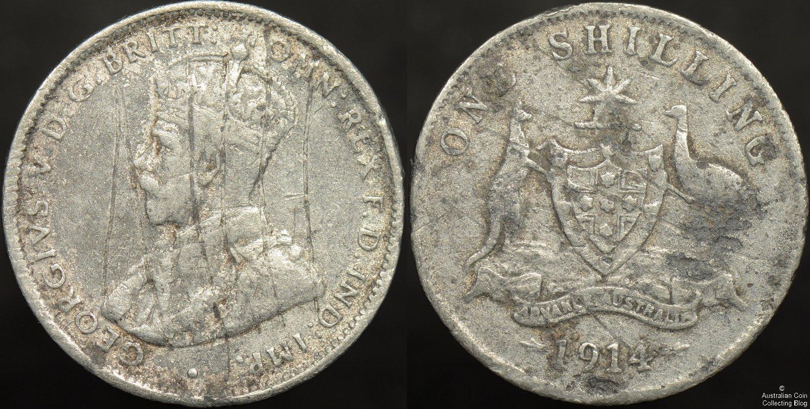 Australia 1914 Counterfeit Shilling