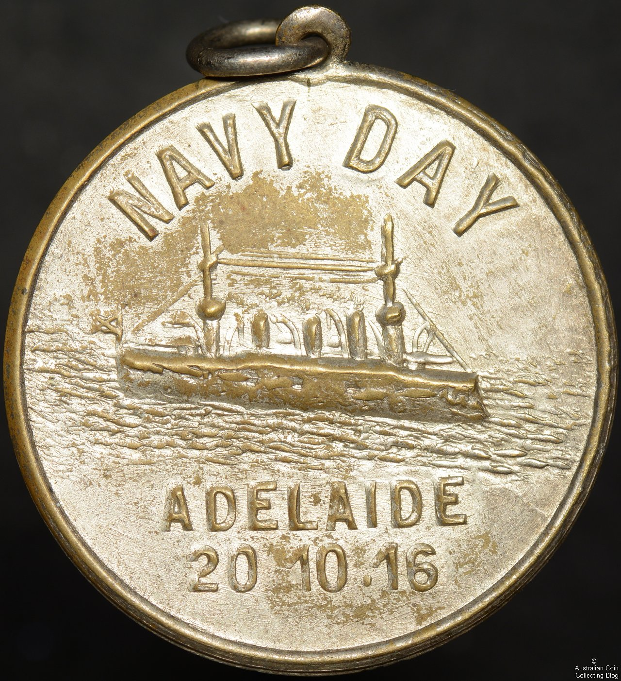 1916 Adelaide Navy Day Medallion – Silvered