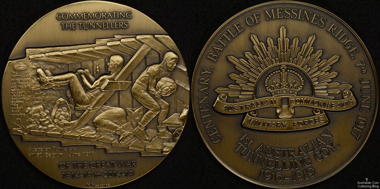 2017 Centenary of the Battle of Messines Ridge Medal