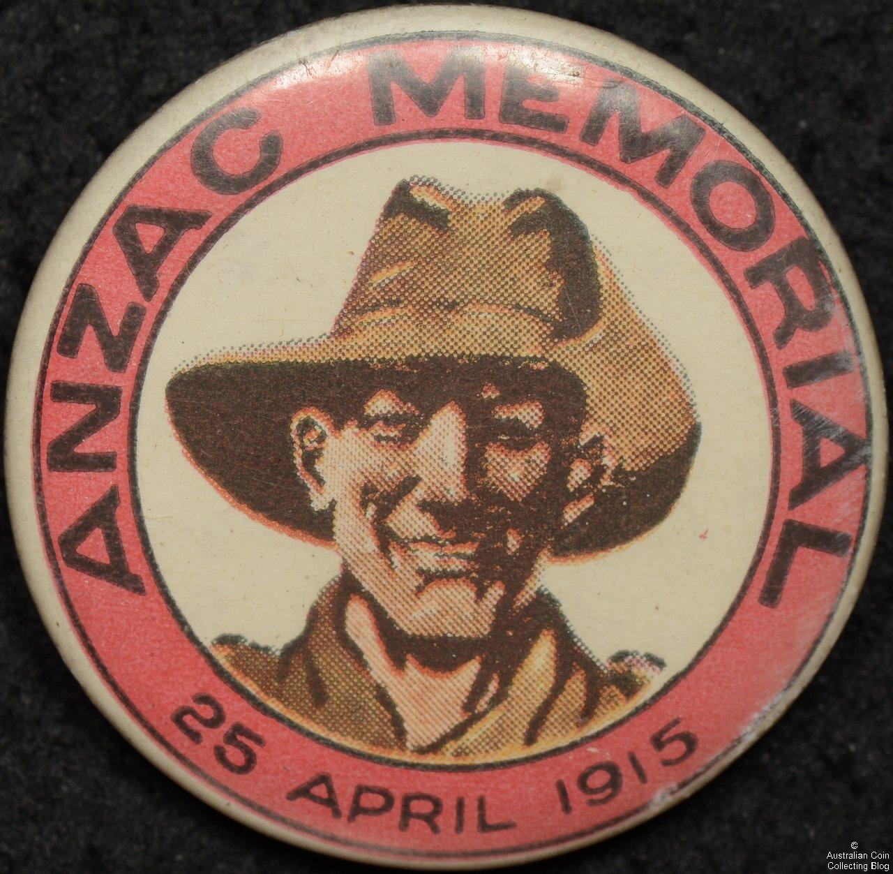 ANZAC Memorial 25 April 1915 Tin Badge