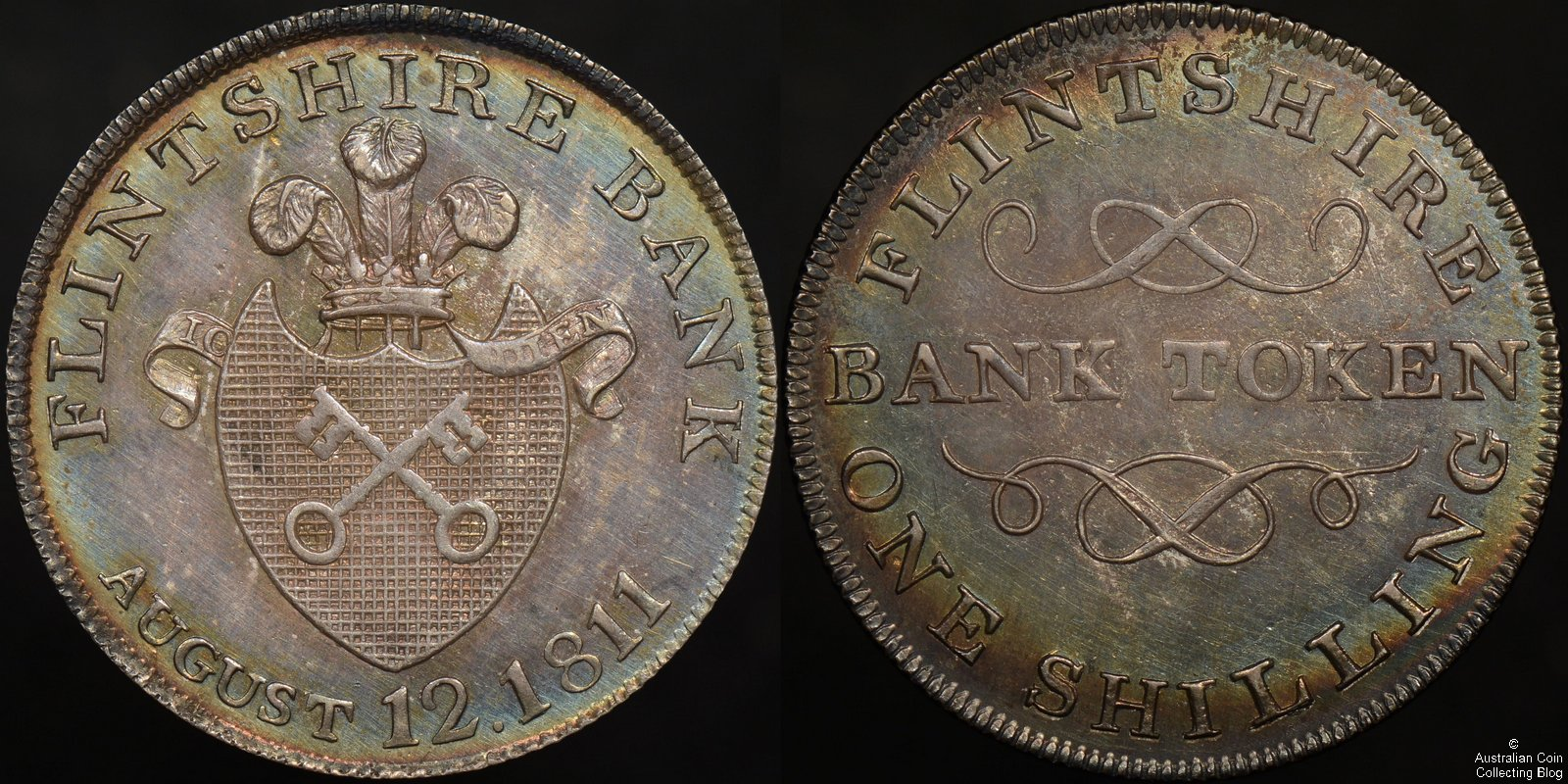 Great Britain 1811 Flintshire 1 Shilling Bank Token