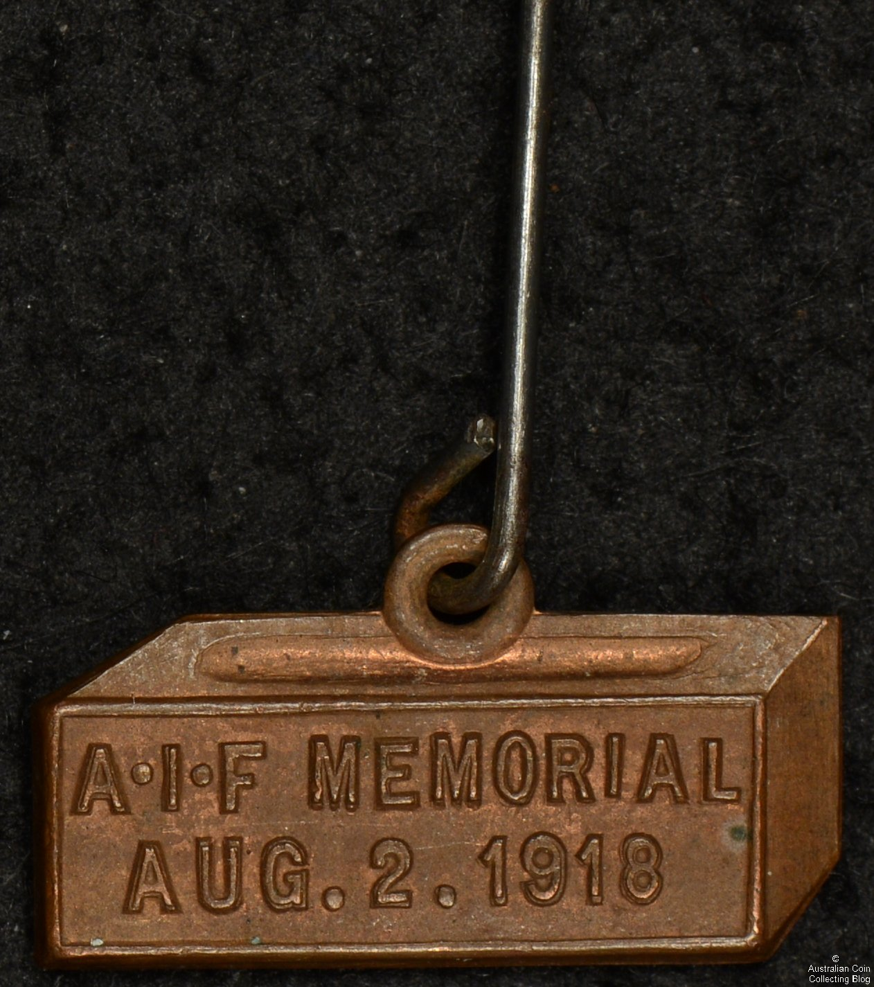 AIF Memorial Aug.2.1918 Pin