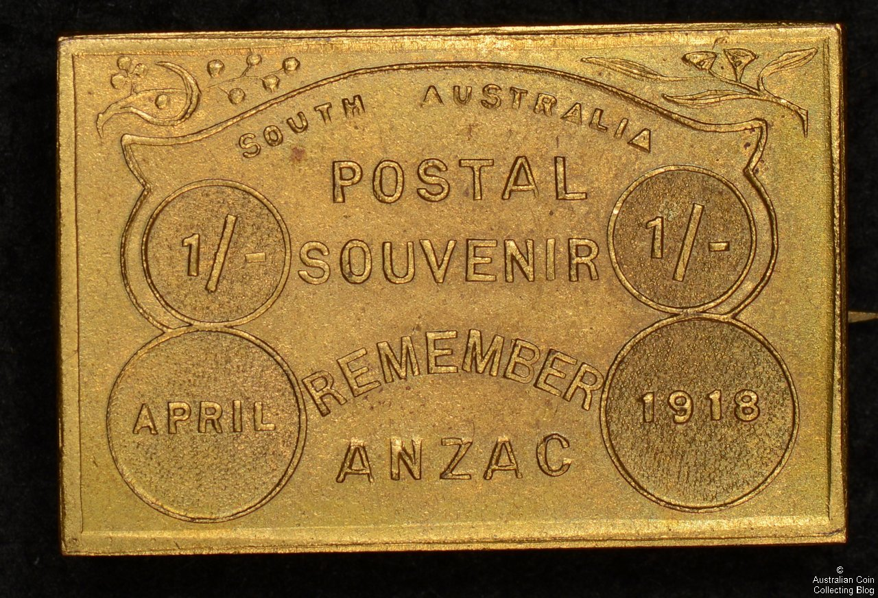 Postal Souvenir Remember ANZAC April 1918 Gilded Pin