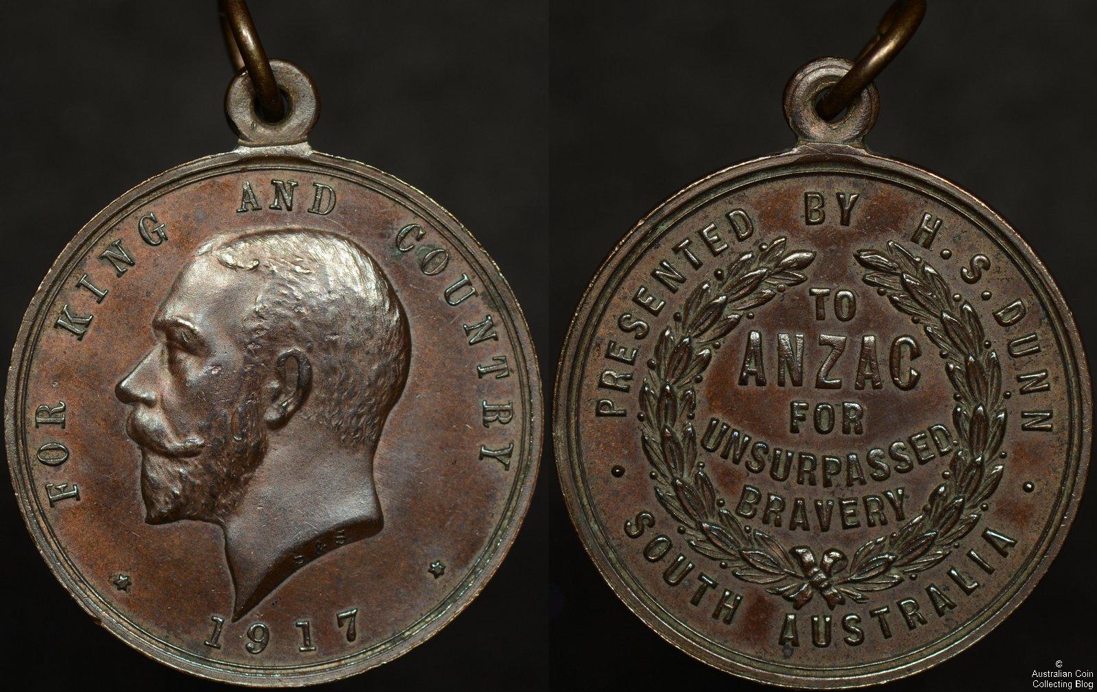 Australia 1917 R.S. Dunn Adelaide ANZAC Medallion