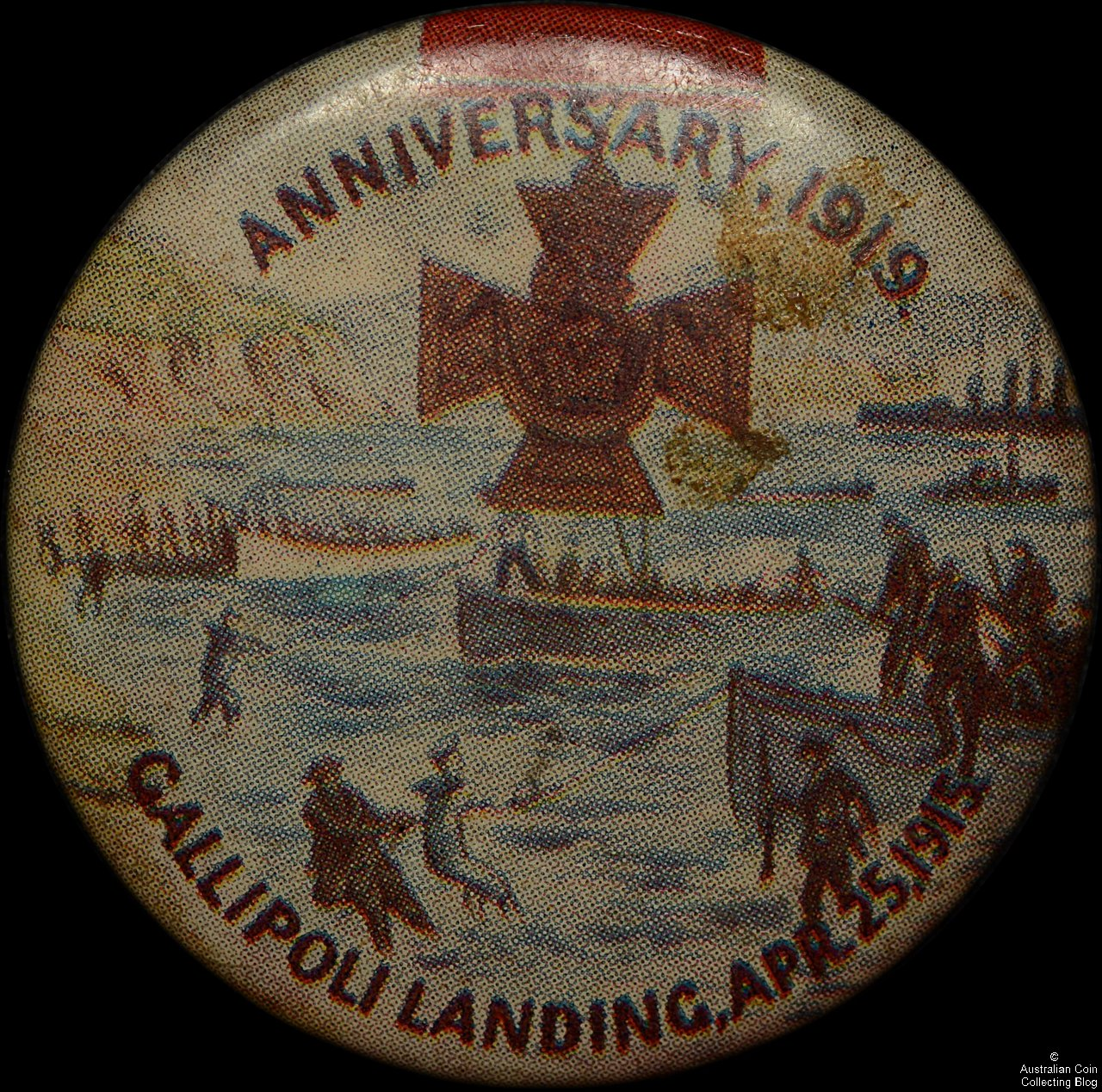 1919 Anniversary of Gallipoli Landings Tin Badge