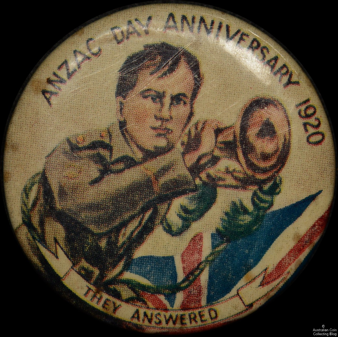 1920 ANZAC Day They Answered Tin Badge