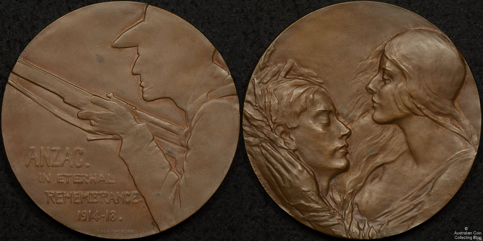 1919 ANZAC Remembrance Medallion – Dora Ohlfsen