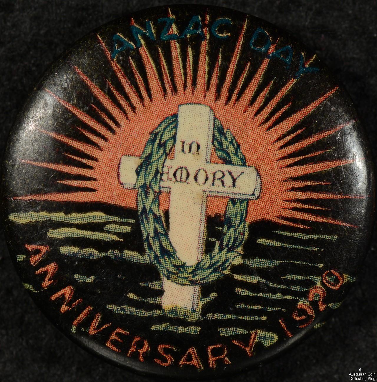ANZAC DAY ANNIVERSARY 1920 Tin Badge
