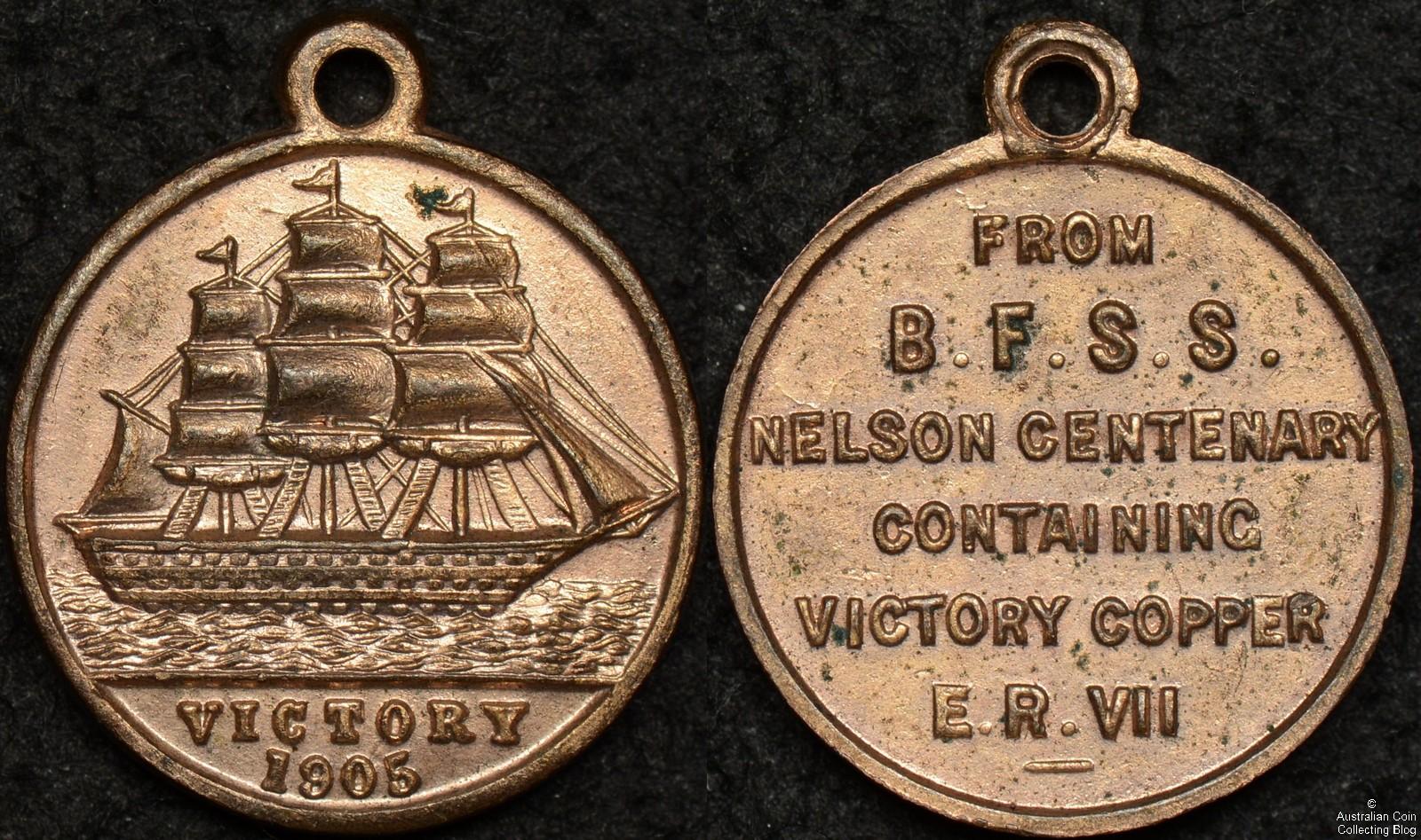 British 1905 Victory Medallet