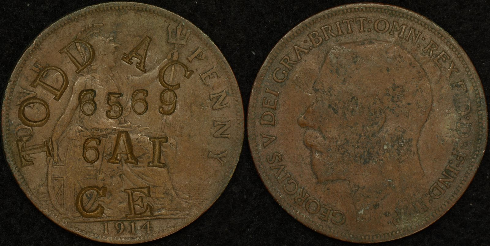 Australian World War 1 Identity Disc 6569 A.C. Todd