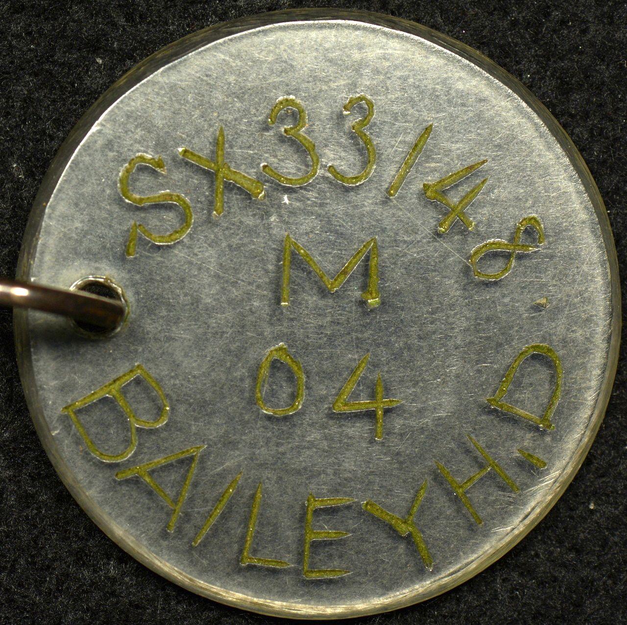 Australian World War 2 Identity Disc SX33148 H.D. Cooper
